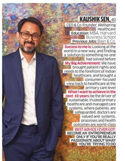 Mr. Kaushik Sen India's top 40 Business Leaders in 2017